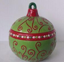 CERAMIC COOKIE JAR CHRISTMAS BALL ORNAMENt