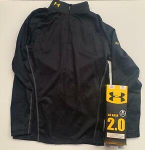 Under Armour XL 1/4 Zip COLDGEAR Mock Neck Fitted Base 2.0 layer Shirt NWT $55