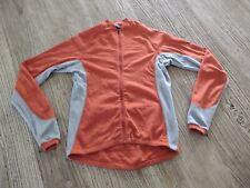 Ibex Women's Jersey Small Full Zip Long Sleeve Top Orange Gray S