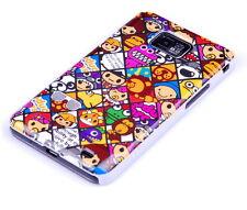 Hülle f Samsung Galaxy S2 plus + i9105P Tasche Case Schutzhülle Cover Emoticons