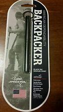 BLACK BACKPACKER key chain  Fisher Space Pen- NEW on blister card SBP/B