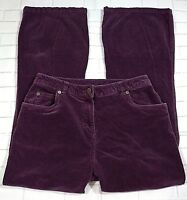 Woolrich Womens Size 8 Boot Cut Plum Colored Corduroy Jeans Petite 5 Pocket