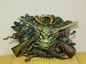 Picture of a tree, hunting wild boar trophy Handmade! Ukraine