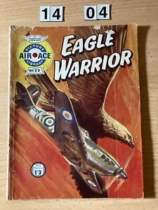 """Fleetway Picture Library Air Ace Comic no 23 from 1960  """"Eagle Warrior"""" Good"""