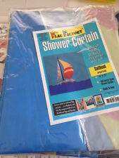 Sailboat / Lake Appliqued 72 inch by 72 inch Flag Factory Bath Shower Curtain