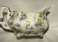 "Vintage Lefton China Hand Painted ""Violet Chintz"" Creamer 663V"