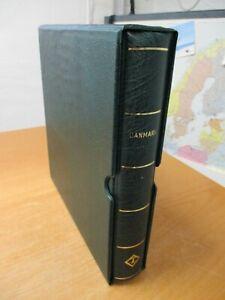 DÄNEMARK leeres Leuchtturm-Vordruckalbum+Schuber für Sammlung 1851-1982