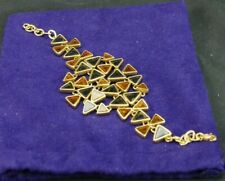 Tory Burch Multiple Triangles with Amber Fashion Link Bracelet