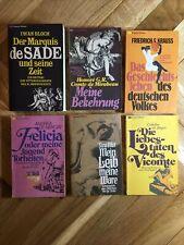 6 Exquisit Bücher, De Sade, Mirabeau, Felicia, Erotik Roman, Meine Bekehrung,...