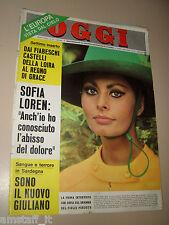 OGGI=1967/37=SOFIA SOPHIA LOREN=SAN MARTINO CASIES=GRETNA GREEN=ISABELLA BIAGINI