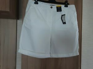 M & S Ladies White Shorts Size 16 New With Tags