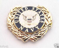 US NAVY LOGO WITH WREATH Military Veteran Hat Pin P15777 EE