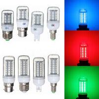3W/5W Red/Green/Blue E27/E14/G9/B22 27/48 5050 SMD LED Light Corn Bulb Lamp 220V