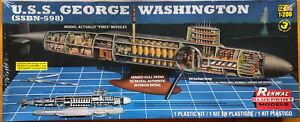 USS George Washington SSBN-598 Submarine Renwal Model #85-7820 Visible Interior
