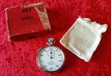 Vintage Omega Stopwatch Prestons Timer Division Of Bolton Inc Original Bag & Box