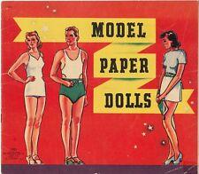 Vintage Uncut 1940 Models Paper Doll Laser Reproduction~Lo Pr~Hi Qaul Free Ship