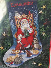 Dimensions Cross Stitch Kit Stocking Santa's Finest Wildlife Christmas 8518