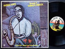 GEORGE LEWIS Homage To Charles Parker LP BLACK SAINT BSR 0029 ITALY 1979 JAZZ