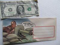RARE 1943 COLORFUL WWII Patriotic Propaganda Military Envelope, Machine Gun Nest