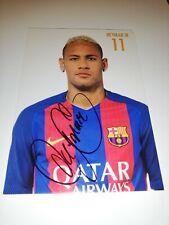 Neymar jr hand Signed fc Barcelona autograph card