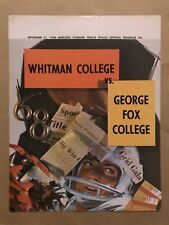 WHITMAN  GEORGE FOX  COLLEGE FOOTBALL PROGRAM - 1968 - EX