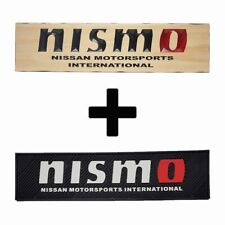 NISMO RED O COMBO PACK - TIMBER SIGN + RUBBER BAR MAT RUNNER PVC BARMAT + FRE...