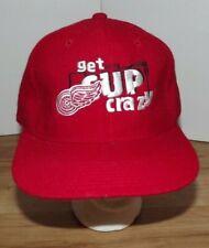 Vintage 90s DETROIT RED WINGS New Era Snapback Hat NHL Hockey
