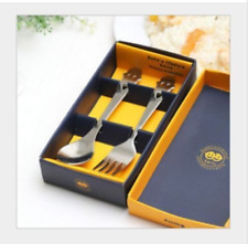 New Cute Stainless Steel Smile Face Flatware Cutlery Home Kitchen Set Spoon Fork