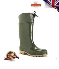 Nuevo Para Hombres Y Mujeres Wellington Impermeable Botas Caminar Caza Agricultura Wellies Grs UK