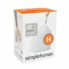Simplehuman code/size H (30-35 litres) bin bag liner, CW0258 (Box of 60)