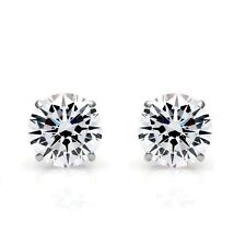 2.00Ct Brilliant Created Diamond Round Solitaire Stud Earrings 14K White Gold