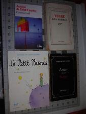 LOT x4>*Le Petit Prince*/Terre des Hommes(1st)/Lettre a un Otage(1st)St Exupery