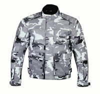 CAMO Mens Waterproof Motorcycle Jacket Motorbike Biker Textile Armour Camouflage