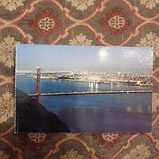 Vintage Postcard The Golden Gate Bridge, Moonlit Night, San Francisco California
