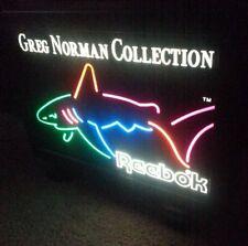 Greg Norman The Shark neon Reebok display sign. Sharp Looking!
