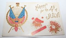 Antique Postcard ~ 4th Of July Undivided Back