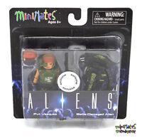 Aliens Minimates TRU Toys R Us Wave 1 Pvt. Vasquez & Battle Damaged Alien