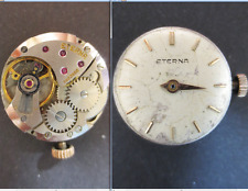 eterna matic 1435u movimento movement manual dial tige old watch working vintage