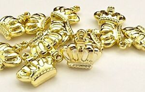 Gold or Silver Prince Princess 3D Crown Charms Party Favor Princess Prince