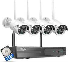 New ListingHiseeu Night Vision WiFi Security Surveillance Cameras Home Outdoor System