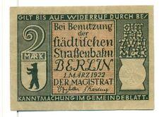 OLD GERMANY EMERGENCY PAPER MONEY - NOTGELD Berlin 1922 2 Mk 8.1899