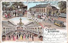 AK Chemnitz - Altendorf Gasthaus Deutschen Hof Strassenbahn Marmor Palast 1902