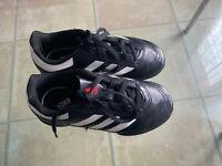 Adidas Kids Boys Football Boots - Size 10K - Black White -SGC 753002