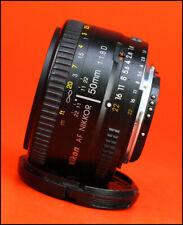 Nikon 50mm F1.8 D AF Autofocus Prime Nikkor Lens  - Sold with Front Lens Cap