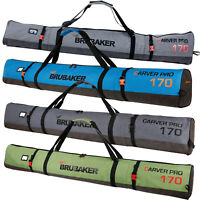 BRUBAKER 'Performance' Single Ski Bag Padded 170 cm / 190 cm for 1 pair of Skis