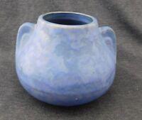 Estate Found Arts & Crafts Brush McCoy Blue Vellum Pottery Vase