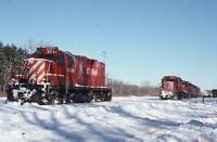 CP RAIL CANADIAN PACIFIC Railroad Locomotives SCOTIA NY Original Photo Slide