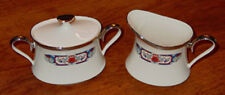 DISCONTINUED LENOX CHINA PATTERN INTERLUDE CREAM & COVERED SUGAR SET EXCELLENT