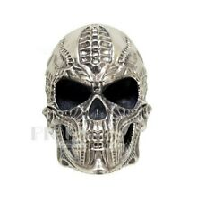 Biomechanics HR Giger Skull Biker Rider Mens 925 Silver Oxidized Ring