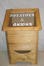 potatoe and onion bin regular style now with a see threw lid and white lettering